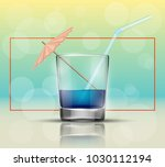 glass cold drink alcohol  ... | Shutterstock .eps vector #1030112194