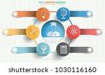 education info graphic design | Shutterstock .eps vector #1030116160
