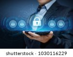 cyber security data protection... | Shutterstock . vector #1030116229