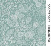 ornate floral seamless texture  ... | Shutterstock .eps vector #1030117000
