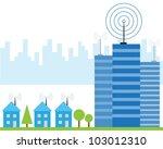 illustration of wireless signal ...   Shutterstock .eps vector #103012310