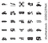 solid black vector icon set  ... | Shutterstock .eps vector #1030125964