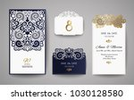 wedding invitation or greeting... | Shutterstock .eps vector #1030128580