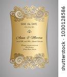 wedding invitation or greeting... | Shutterstock .eps vector #1030128586