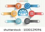 business info graphic design | Shutterstock .eps vector #1030129096