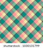 seamless tartan vector pattern | Shutterstock .eps vector #1030131799