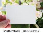blank white visit card template ... | Shutterstock . vector #1030131919