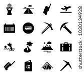 solid vector icon set   airport ... | Shutterstock .eps vector #1030134928