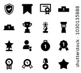 solid vector icon set   shield... | Shutterstock .eps vector #1030135888