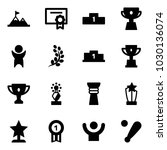 solid vector icon set  ... | Shutterstock .eps vector #1030136074