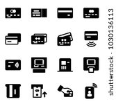 solid vector icon set   credit... | Shutterstock .eps vector #1030136113