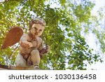 the statue of the god of love... | Shutterstock . vector #1030136458