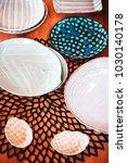 handmade modern japanese... | Shutterstock . vector #1030140178