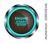 brown engine start button in a... | Shutterstock .eps vector #1030142146