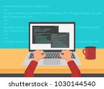 vector programming  coding and... | Shutterstock .eps vector #1030144540