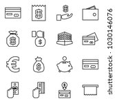 flat vector icon set   credit... | Shutterstock .eps vector #1030146076