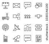 flat vector icon set  ... | Shutterstock .eps vector #1030146100