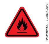 flammable sign on white...   Shutterstock .eps vector #1030146598
