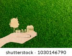 hands holding home family car... | Shutterstock . vector #1030146790