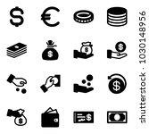 solid vector icon set   dollar... | Shutterstock .eps vector #1030148956