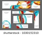 set of web banner templates for ... | Shutterstock .eps vector #1030152310