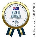 made in australia. vector badge ... | Shutterstock .eps vector #1030156084