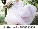 the bride and groom in the... | Shutterstock . vector #1030156834