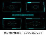 hud futuristic user screen... | Shutterstock .eps vector #1030167274