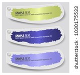 colorful label paper brush... | Shutterstock .eps vector #1030175533