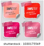 colorful label paper brush... | Shutterstock .eps vector #1030175569