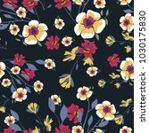 seamless pattern with small... | Shutterstock .eps vector #1030175830