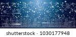 smart city with neon buildings  ... | Shutterstock .eps vector #1030177948