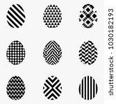 white and black egg easter set | Shutterstock .eps vector #1030182193