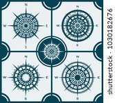 vector set of blue isolated...   Shutterstock .eps vector #1030182676