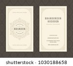 luxury business card and... | Shutterstock .eps vector #1030188658