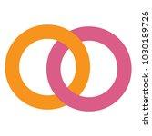 connected circles logo vector.... | Shutterstock .eps vector #1030189726