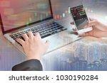 businessmen trading stocks... | Shutterstock . vector #1030190284