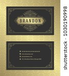 luxury business card and... | Shutterstock .eps vector #1030190998