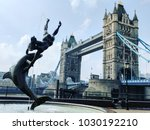 london tower bridge with... | Shutterstock . vector #1030192210