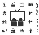 cameraman and journalist icon.... | Shutterstock .eps vector #1030193440