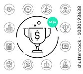 set of business icons on... | Shutterstock .eps vector #1030193638