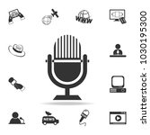 microphone icon. detailed set...