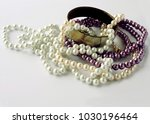 multicolor parl necklaces | Shutterstock . vector #1030196464