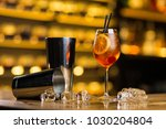 old fashioned cocktail standing ... | Shutterstock . vector #1030204804
