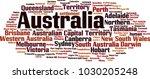 cities in australia word cloud... | Shutterstock .eps vector #1030205248