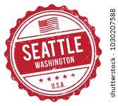 seattle washington stamp | Shutterstock .eps vector #1030207588