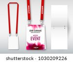 design of double hole lanyard.... | Shutterstock .eps vector #1030209226