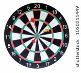 Stock photo dart board isolated on a white background 1030211449