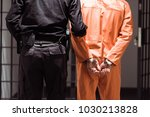 rear view of prison officer... | Shutterstock . vector #1030213828