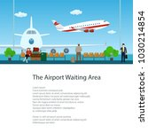 flyer of waiting room at the... | Shutterstock .eps vector #1030214854